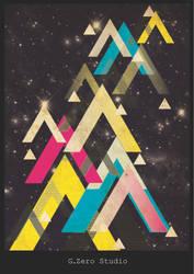 Retro Space poster by Gzerostudio