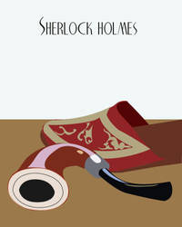 Sherlock Holmes Cover - poster by shiftylem