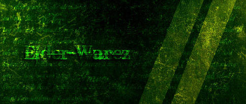 Old writed Grunge lime logo by ElderW