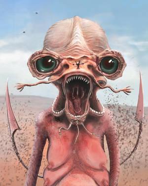 Alien character by splatterspace