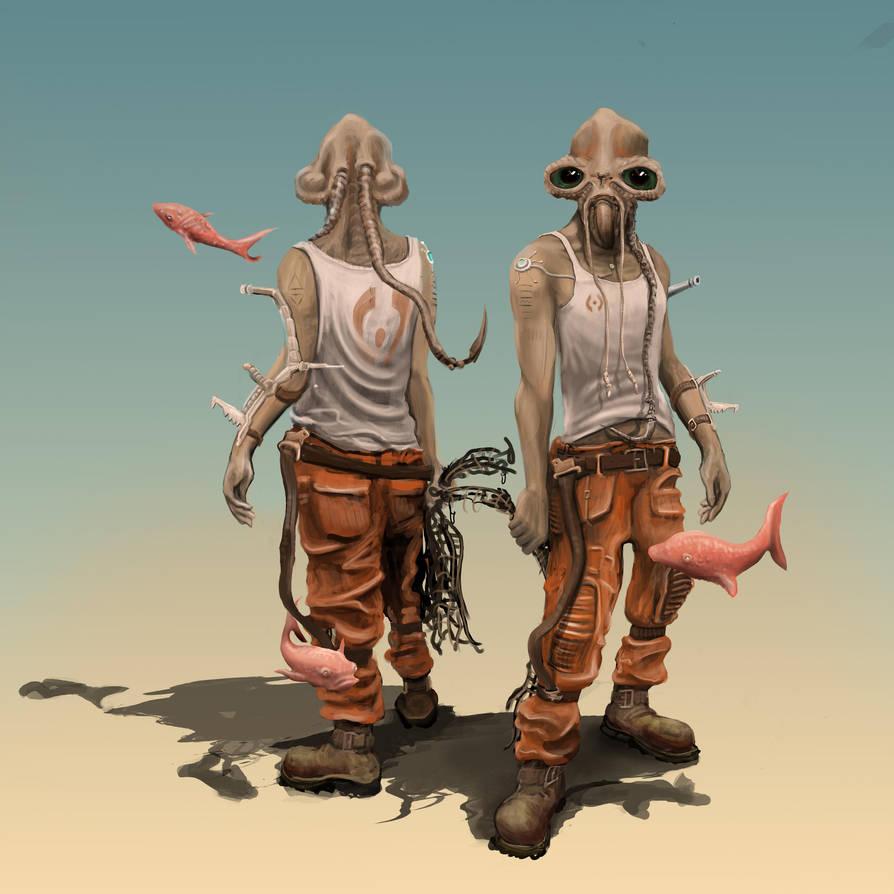 Alien Character Stu by splatterspace