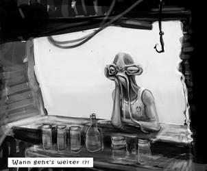 Alien Bar Scene by splatterspace