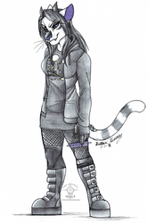 COMMISSION: Dressed To Kill Sketch by TheHuntingWolf