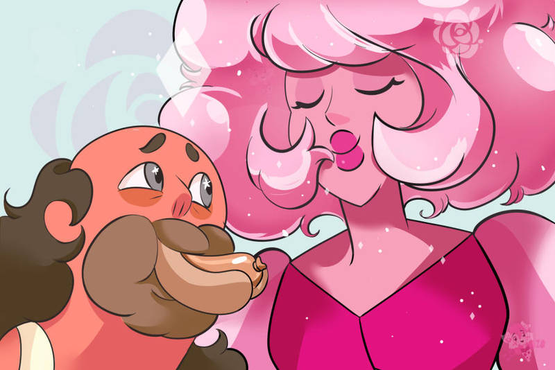 Have some Pink diamond fanart! XD This one was fun to color, especially Pink's hair. Greg & Pink Diamond © Rebecca Sugar