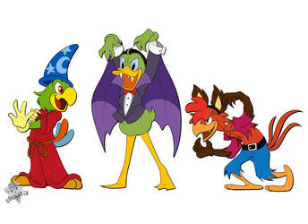 The Three Caballeros Halloween Eve by PizzaPupperRoni