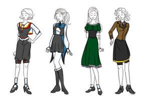 Hogwarts Uniforms by Maaiker