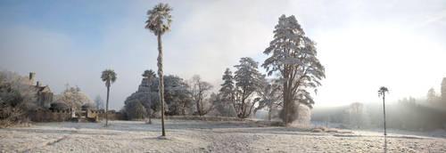 Gurteen Castle in the Winter 3 by Cyril-Helnwein