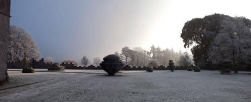 Gurteen Castle in the Winter 4 by Cyril-Helnwein