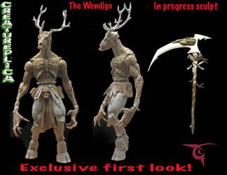 Wendigo first look by BLACKPLAGUE1348