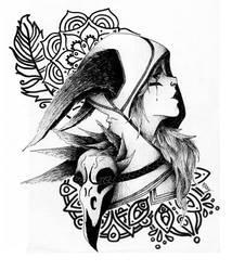 Xayah - League of Legends by Maylise-art