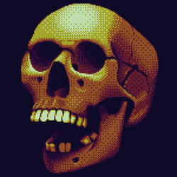 Pixelated Skull by zeroandnull