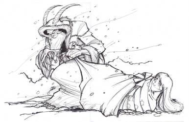 Bride of Krampus (WIP) by Psychoboy07