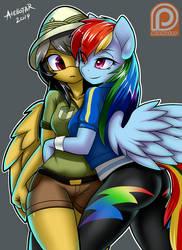 Daring Oo and Rainbow Dash (Patreon Reward 4) by iloota