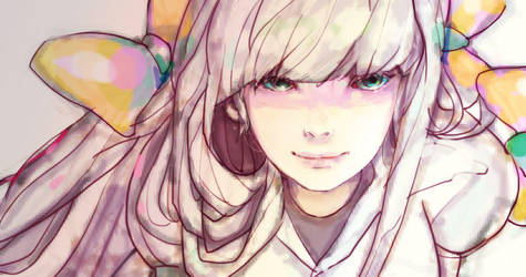 digi girl face close up by drmr83