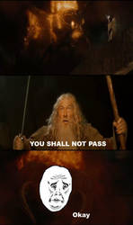 You Shall Not Pass by revesburger