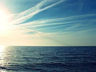 brush strokes in the sky by artahh