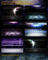 Universe Backgrounds Bundle by mkrukowski