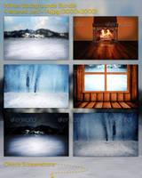 Winter Backgrounds Bundle by mkrukowski
