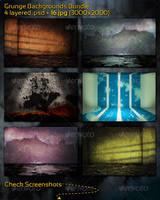 Grunge Backgrounds Bundle by mkrukowski