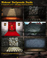 Medieval Backgrounds Bundle by mkrukowski