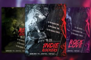Smoke Indie Party Flyer by mkrukowski