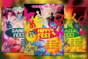 Hippy Flyer / Poster by mkrukowski