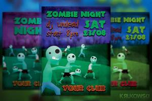 Zombie Night Flyer by mkrukowski