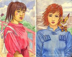 Sketchbook 11 - Miyazaki tribute by MJWilliam