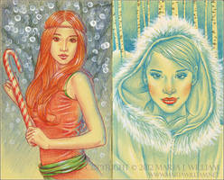 Sketchbook 25: December, January by MJWilliam