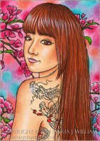 Confidence - ACEO by MJWilliam