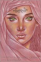 Lady Of Secrets - Sketch by MJWilliam