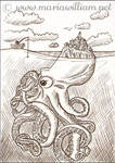 Octopus Island ACEO - #Inktober by MJWilliam