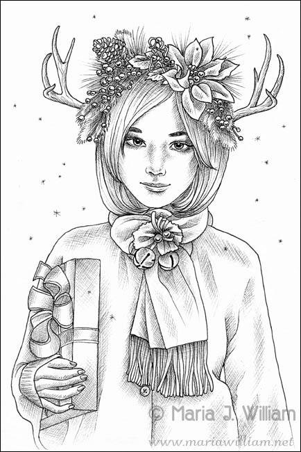 Inktober 2018 - Christmas Is Coming by MJWilliam