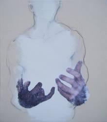 Man with infant by DEREKoverfield