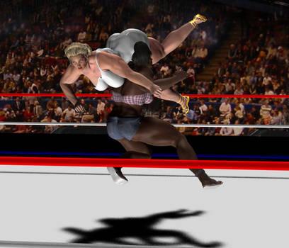 Daz Studio Render Brickhouse vs Olympia by SilverBolt14