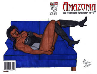 Amazonia #4 - Elisa pin up #1 by SilverBolt14