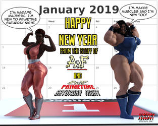 AWF PSN New Years 2019-Final by SilverBolt14