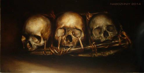 trophy skulls by vangoghtattoo