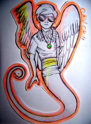 orange birdboy trash by TheTogekiss