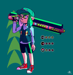 my ranked outfit in splatoon by TheTogekiss