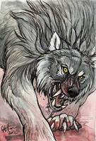 Color Sketch: Warg by caramitten