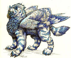 Ice as Gryphon by caramitten