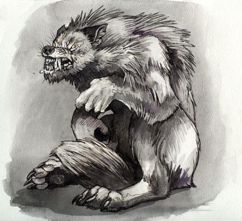 Grumpy Werewolf by caramitten