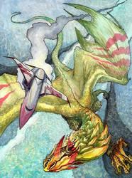 Chuck's Dragon -- DragonShip by caramitten