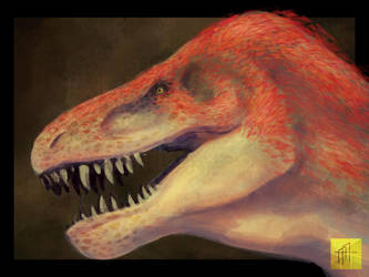 A Red T-Rex by grindARTstone