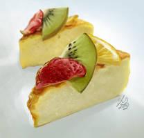 cheesecake still life by CassandraJames