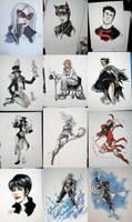 Armageddon Expo Con sketches by CassandraJames