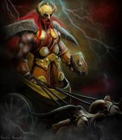 Thor - God of Thunder by RavenMorgoth