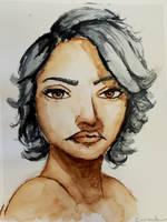 School Project. Watercolors by Emelina0