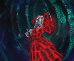 Netrunner: Woman in Red Dress by Jumpei